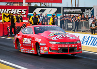 Feb 21, 2020; Chandler, Arizona, USA; NHRA pro stock driver Erica Enders during qualifying for the Arizona Nationals at Wild Horse Pass Motorsports Park. Mandatory Credit: Mark J. Rebilas-USA TODAY Sports