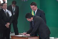 BRASÍLIA, DF, 01.01.2019 – POSSE-BOLSONARO – O novo ministro da Justiça Sérgio Moro durante a Posse de Jair Bolsonaro como Presidente do Brasil, na tarde desta terça-feira, 01, no Palácio do Planalto em Brasília. (Foto: Ricardo Botelho/Brazil Photo Press)