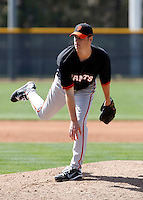 Eric Stolp  - San Francisco Giants - 2009 spring training.Photo by:  Bill Mitchell/Four Seam Images