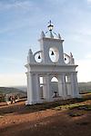 Bell gable tower structure, Peña de Arias Montano, Alájar, Sierra de Aracena, Huelva province, Spain