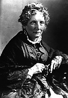 Harriet Beecher Stowe, ca. 1870s-80s. (OWI)<br /> Exact Date Shot Unknown<br /> NARA FILE #:  208-N-25004<br /> WAR &amp; CONFLICT BOOK #:  116