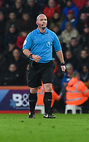 Referee Simon Hooper<br /> <br /> Photographer David Horton/CameraSport<br /> <br /> The Premier League - Bournemouth v West Ham United - Saturday 19 January 2019 - Vitality Stadium - Bournemouth<br /> <br /> World Copyright © 2019 CameraSport. All rights reserved. 43 Linden Ave. Countesthorpe. Leicester. England. LE8 5PG - Tel: +44 (0) 116 277 4147 - admin@camerasport.com - www.camerasport.com