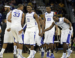 The UK men's basketball team members celebrate together during the second half of UK's second round  win, 90-60 over Wake Forest in the NCAA tournament at New Orleans Arena on Saturday, March 20, 2010. Photo by Britney McIntosh | Staff