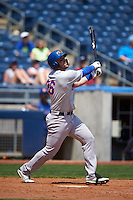Midland RockHounds outfielder Josh Whitaker (26) at bat during a game against the Tulsa Drillers on June 3, 2015 at Oneok Field in Tulsa, Oklahoma.  Midland defeated Tulsa 5-3.  (Mike Janes/Four Seam Images)