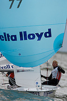 Medemblik - the Netherlands, May 26th 2010. Delta Lloyd Regatta in Medemblik (26/30 May 2010). Day 1. 470 women.