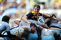 Joe Launchbury of Wasps in action at a maul. Aviva Premiership match, between Wasps and Northampton Saints on April 3, 2016 at the Ricoh Arena in Coventry, England. Photo by: Patrick Khachfe / JMP