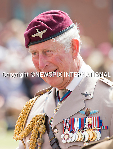 23.06.2017; Colchester, UK: PRINCE CHARLES<br /> Colonel-In-Chief, The Parachute Regiment, visited Merville Barracks to meet troops, watch a parachute demonstration by the regiment&rsquo;s Red Devils Freefall Display Team and attend a parade to mark the 40th anniversary of His Royal Highness's appointment as Colonel-In-Chief.<br /> Mandatory Credit Photo: &copy;Francis Dias/NEWSPIX INTERNATIONAL<br /> <br /> IMMEDIATE CONFIRMATION OF USAGE REQUIRED:<br /> Newspix International, 31 Chinnery Hill, Bishop's Stortford, ENGLAND CM23 3PS<br /> Tel:+441279 324672  ; Fax: +441279656877<br /> Mobile:  07775681153<br /> e-mail: info@newspixinternational.co.uk<br /> Usage Implies Acceptance of OUr Terms &amp; Conditions<br /> Please refer to usage terms. All Fees Payable To Newspix International