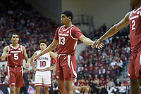 NWA Democrat-Gazette/CHARLIE KAIJO Arkansas Razorbacks guard Mason Jones (13) shoots a free throw during the second half of the NCAA National Invitation Tournament, Saturday, March 23, 2019 at the Simon Skjodt Assembly Hall at the University of Indiana in Bloomington, Ind. The Arkansas Razorbacks fell to the Indiana Hoosiers 63-60.