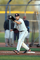 Stefen Romero - Oregon State, playing in the 8th annual Coca Cola Classic at Surprise Recreational Complex, Surprise, AZ - 03/03/2010 - 03/06/2010.Photo by:  Bill Mitchell/Four Seam Images.