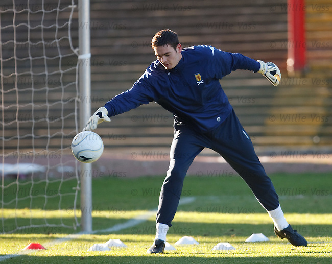 Scotland goalkeper Craig Gordon at the squad get together in Dens Park, Dundee