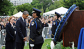 United States President Barack Obama attends the 32nd Annual National Peace Officers' Memorial Service at the West Front Lawn of the U.S. Capitol May 15, 2013 in Washington, DC. Obama attended the annual event to honor law enforcement who were killed in the line of duty in the previous year..Credit: Olivier Douliery / Pool via CNP