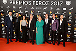Cast of El Rey Tuerto attends to the Feroz Awards 2017 in Madrid, Spain. January 23, 2017. (ALTERPHOTOS/BorjaB.Hojas)