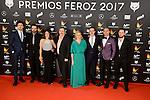 Cast of El Rey Tuerto attends to the Feroz Awards 2017 in Madrid, Spain. January 23, 2017. (ALTERPHOTOS/BorjaB.Hojas)