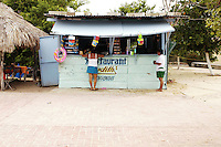 A typical little store on the beach in Oaxaca