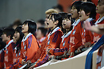 Albirex Niigata Ladies fans,<br /> DECEMBER 23, 2013 - Football / Soccer :<br /> Members of the Albirex Niigata Ladies Junior Youth cheer during the 35th All Japan Women's Football Championship final match between INAC Kobe Leonessa 2(4-3)2 Albirex Niigata Ladies at NACK5 Stadium Omiya in Saitama, Japan. (Photo by AFLO)