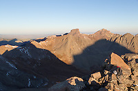 Matterhorn and Uncompahgre shadows at sunrise.  Coxcomb and Redcliff are the two prominent peaks on the horizon.