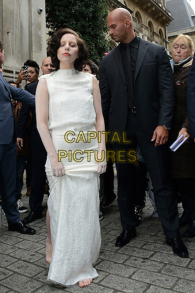 LONDON ENGLAND - NOVEMBER :  Lady Gaga (Stefani Joanne Angelina Germanotta) seen leaving The Langham hotel on November 1st, 2013, London, England.<br /> CAP/IA<br /> &copy;Ian Allis/Capital Pictures