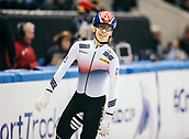 2nd February 2019, Dresden, Saxony, Germany; World Short Track Speed Skating; finals, 1000 meters for men in the EnergieVerbund Arena : winner Hwang Dae Heon from South Korea after the race