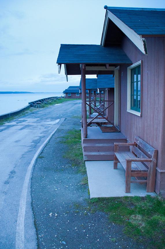 Cabin, Cama Beach State Park, Camano Island, Washington, US