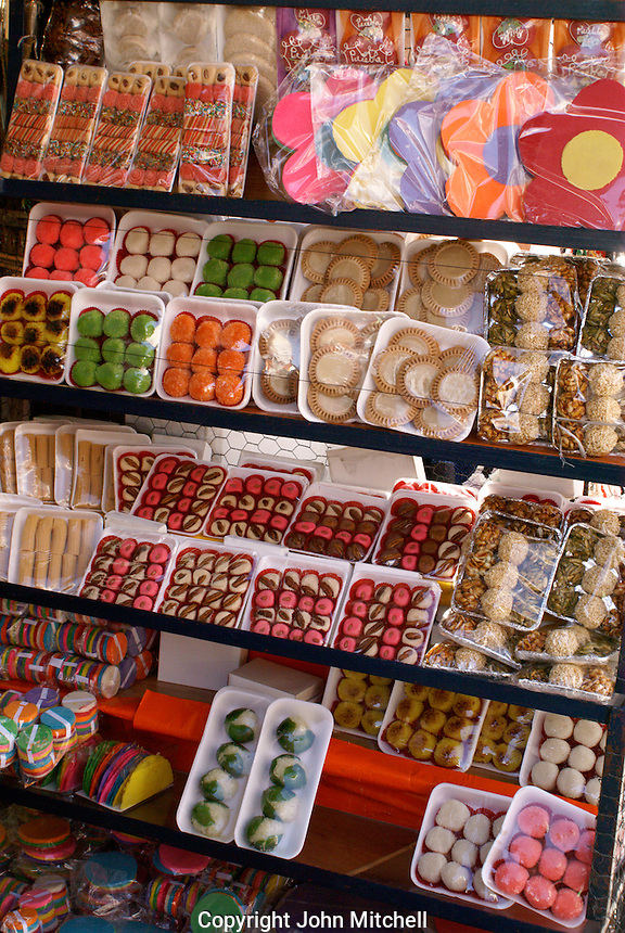 Sweets for sale  in the city of Puebla, Mexico. The historical center of Puebla is a UNESCO World Heritage Site..