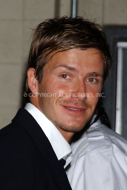 WWW.ACEPIXS.COM . . . . . ....NEW JERSEY, MAY 31, 2005....David Beckham at the England vs Columbia soccer game held at Giants Stadium.....Please byline: KRISTIN CALLAHAN - ACE PICTURES.. . . . . . ..Ace Pictures, Inc:  ..Craig Ashby (212) 243-8787..e-mail: picturedesk@acepixs.com..web: http://www.acepixs.com