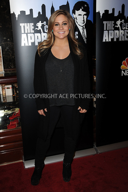 WWW.ACEPIXS.COM<br /> January 20, 2015 New York City<br /> <br /> Shawn Johnson attending 'Celebrity Apprentice' Red Carpet Event at Trump Tower on January 20, 2015 in New York City<br /> <br /> Please byline: Kristin Callahan/AcePictures<br /> <br /> ACEPIXS.COM<br /> <br /> Tel: (212) 243 8787 or (646) 769 0430<br /> e-mail: info@acepixs.com<br /> web: http://www.acepixs.com