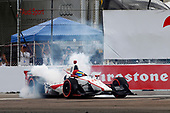 2017 Verizon IndyCar Series - Firestone Grand Prix of St. Petersburg<br /> St. Petersburg, FL USA<br /> Sunday 12 March 2017<br /> Sebastien Bourdais celebrates with donuts<br /> World Copyright: Phillip Abbott/LAT Images<br /> ref: Digital Image lat_abbott_stp_0317_12977