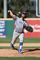 Joey Wagman (20) of the Stockton Ports pitches against the Rancho Cucamonga Quakes at LoanMart Field on May 28, 2017 in Rancho Cucamonga, California. Stockton defeated Rancho Cucamonga, 7-4. (Larry Goren/Four Seam Images)