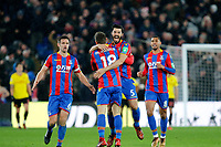 GOAL - James McArthur of Crystal Palace is mobbed after scoring during the EPL - Premier League match between Crystal Palace and Watford at Selhurst Park, London, England on 12 December 2017. Photo by Carlton Myrie / PRiME Media Images.