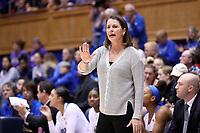 DURHAM, NC - NOVEMBER 17: Head coach Joanne P. McCallie of Duke University during a game between Northwestern University and Duke University at Cameron Indoor Stadium on November 17, 2019 in Durham, North Carolina.