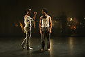 """Rambert Dance Company presents a Season of New Choreography 2012 at the Queen Elizabeth Hall, Southbank, London. Picture shows: """"Face Up"""", choreographed by Mbulelo Ndabeni. Dancers are: Miguel Altunaga (r) and Mbullelo Ndabeni (l)."""