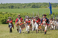 Continental and British Army reenactors, Monmouth Battlefield State Park, New Jersey