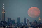 Blue Moon rises over New York