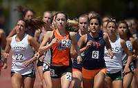 Apr 11, 2015; Los Angeles, CA, USA; Melina Devoney of Occidental College places fourth in the womens 1,500m in 4:54.07 in a SCIAC multi dual meet at Occidental College. Photo by Kirby Lee