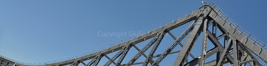 The Fortitude Valley end of the Story Bridge in Brisbane.