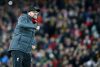 Liverpool manager Jurgen Klopp celebrates<br /> <br /> Photographer Alex Dodd/CameraSport<br /> <br /> Emirates FA Cup Third Round - Liverpool v Everton - Sunday 5th January 2020 - Anfield - Liverpool<br />  <br /> World Copyright © 2020 CameraSport. All rights reserved. 43 Linden Ave. Countesthorpe. Leicester. England. LE8 5PG - Tel: +44 (0) 116 277 4147 - admin@camerasport.com - www.camerasport.com