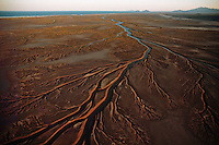 An aerial view of the Colorado River delta in Baja California.