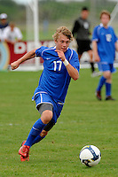 Reed McKenna (17) of the Academy select Team. The US U-17 Men's National Team defeated the Development Academy Select Team 5-3 during day two of the US Soccer Development Academy  Spring Showcase in Sarasota, FL, on May 23, 2009.