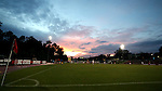 22 September 2016: The sun sets over Dail Soccer Field. The North Carolina State University Wolfpack hosted the University of Notre Dame Fighting Irish at Dail Soccer Field in Raleigh, North Carolina in a 2016 NCAA Division I Women's Soccer match. Notre Dame won the game 1-0.
