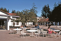 Santa Cruz CA: UCSC--Stevenson College, Dining Terrace.   Photo '83.