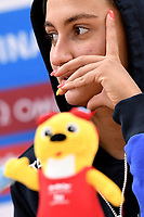 QUADARELLA Simona ITA Italy Gold Medal <br /> Women's 1500m Freestyle <br /> Press Conference <br /> Gwangju South Korea 23/07/2019<br /> Swimming <br /> 18th FINA World Aquatics Championships<br /> Nambu University Aquatics Center <br /> Photo © Andrea Staccioli / Deepbluemedia / Insidefoto