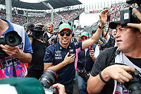 Motorsports: FIA Formula One World Championship, WM, Weltmeisterschaft 2019, Grand Prix of Mexico, 11 Sergio Perez MEX, Racing Point F1 Team during the drivers parade