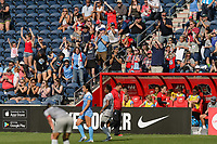 Bridgeview, IL - Saturday May 27, 2017: Fans during a regular season National Women's Soccer League (NWSL) match between the Chicago Red Stars and the North Carolina Courage at Toyota Park. The Red Stars won 3-2.