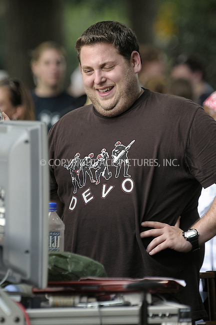WWW.ACEPIXS.COM . . . . .  ....July 30 2009, New York City....Actor Jonah Hill on the Central Park set of the new movie 'Get him to the Greek' on July 30 2009 in New York City....Please byline: AJ Sokalner - ACEPIXS.COM..... *** ***..Ace Pictures, Inc:  ..tel: (212) 243 8787..e-mail: info@acepixs.com..web: http://www.acepixs.com