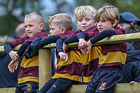 General view of young supporters during of the Greene King IPA Championship match between Ampthill RUFC and Nottingham Rugby on Ampthill Rugby's Championship Debut at Dillingham Park, Woburn St, Ampthill, Bedford MK45 2HX, United Kingdom on 12 October 2019. Photo by David Horn.