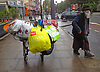 Bag Man in Stamford Hill, Stoke Newington, London N16.<br />