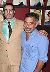 Jon Robin Baitz & Joe Mantello.attending the celebration for Jon Robin Baitz receiving a Caricature on Sardi's Hall of Fame in New York City on 5/31/2012