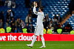 Sergio Ramos of Real Madrid celebrate the victory after La Liga match between Real Madrid and CD Leganes at Santiago Bernabeu Stadium in Madrid, Spain. October 30, 2019. (ALTERPHOTOS/A. Perez Meca)