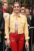 Chelsea Leyland<br /> arrives for the Topshop Unique AW17 show as part of London Fashion Week AW17 at Tate Modern, London.<br /> <br /> <br /> &copy;Ash Knotek  D3232  19/02/2017