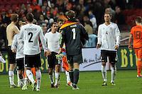 Deutsche Nationalspieler klatschen ab